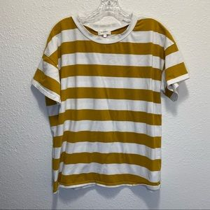 bohme T-shirt Yellow and White thick stripe